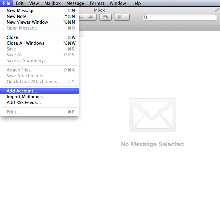 Setting up email in Apple Mail - Step 1