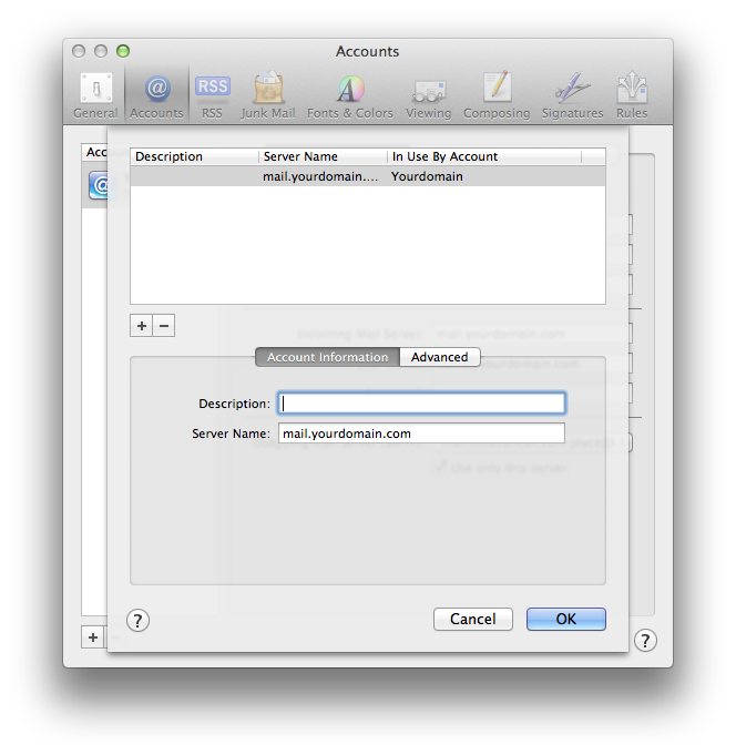 Setting up email in Apple Mail - Step 12