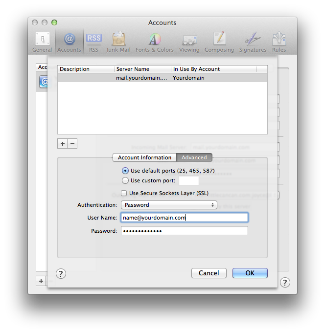 Setting up email in Apple Mail - Step 13