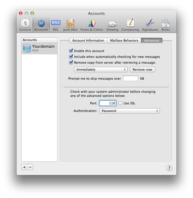 Setting up email in Apple Mail - Step 14