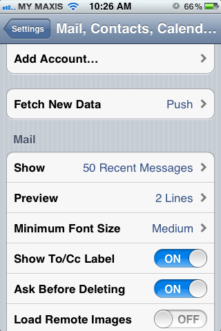 Setting up email in iPhone - Step 2