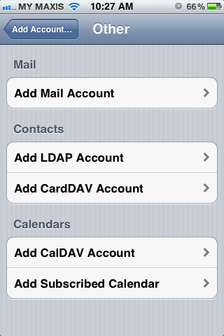 Setting up email in iPhone - Step 4