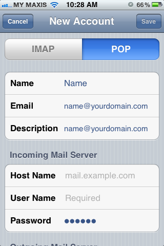 Setting up email in iPhone - Step 6