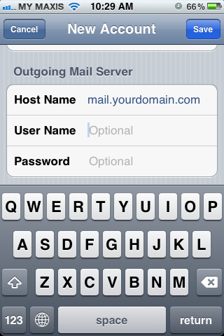 Setting up email in iPhone - Step 8