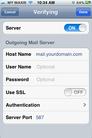 Setting up email in iPhone - Step 11
