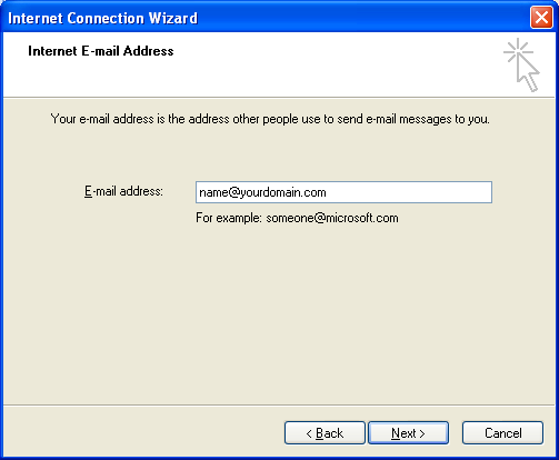 Setting up email in Outlook Express - Step 4