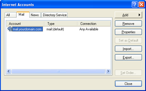 Setting up email in Outlook Express - Step 8