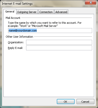 Setting up email in Microsoft Outlook - Step 8