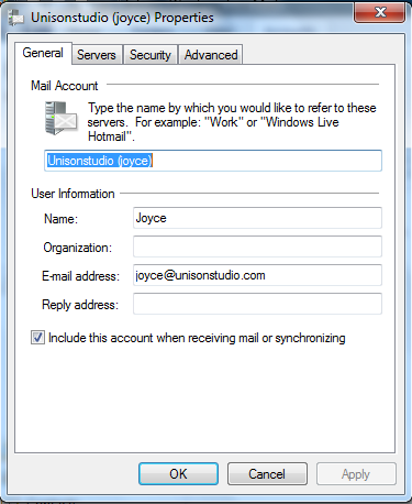 Setting up email in Windows Live Mail - Step 6