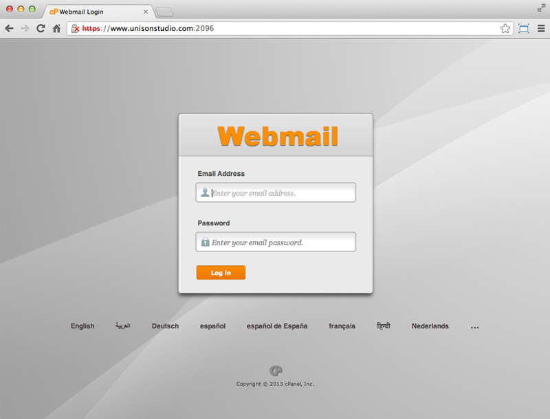 How to log in to Webmail